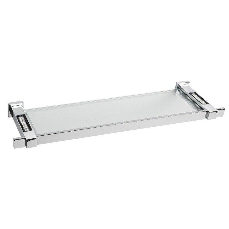 Windisch 85524CR Square 18 x 5 Inch Glass Bathroom Shelf with ...