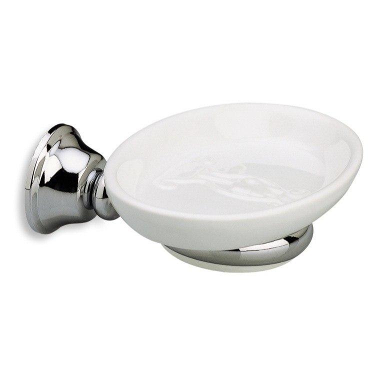 Stilhaus Sm09 02 Smart Wall Mounted Round White Ceramic Soap Dish