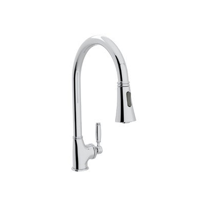 ROHL MB7928LM-2 MICHAEL BERMAN HIGH-SPOUT PULL-DOWN SINGLE HOLE KITCHEN  FAUCET WITH METAL LEVER